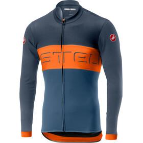 Castelli Prologo VI LS FZ Jersey Men dark blue/orange/light blue